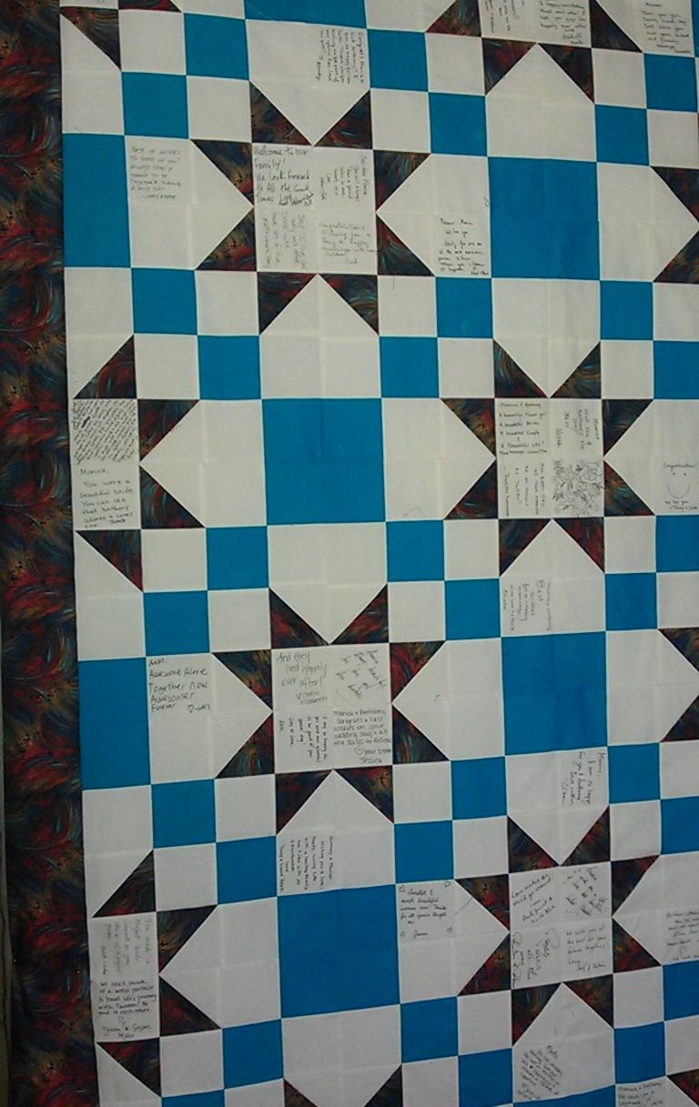 WEDDING SIGNATURE QUILT | napquilting : signature quilts - Adamdwight.com