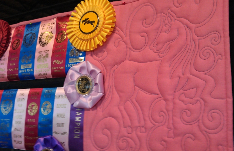 ribbon quilt up right